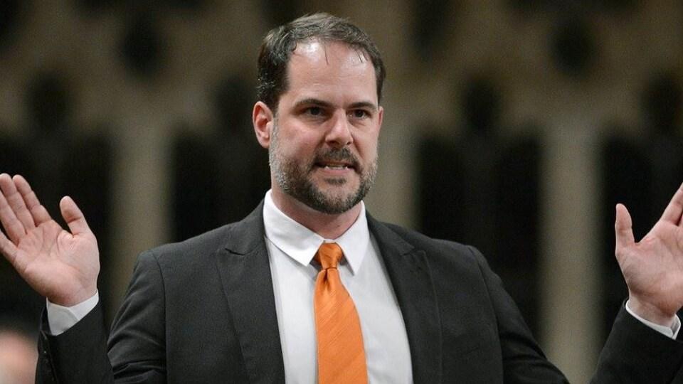 Le député du NPD Alexandre Boulerice à la Chambre des Communes