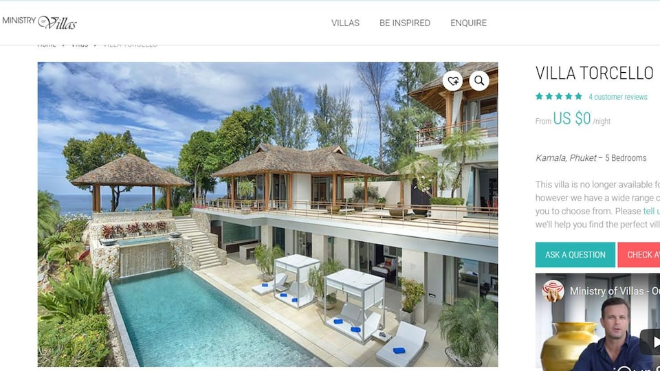 It is a sumptuous villa with a pool by the sea.