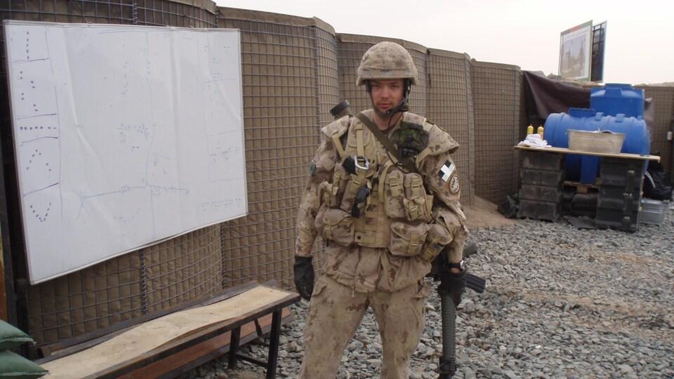 Alexandre Tessier lors d'une mission en Afghanistan en 2007.