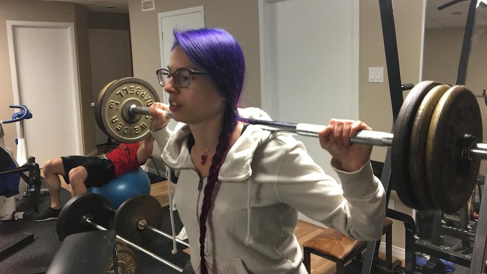 Anne Turgeon-Boulanger à l'entraînement