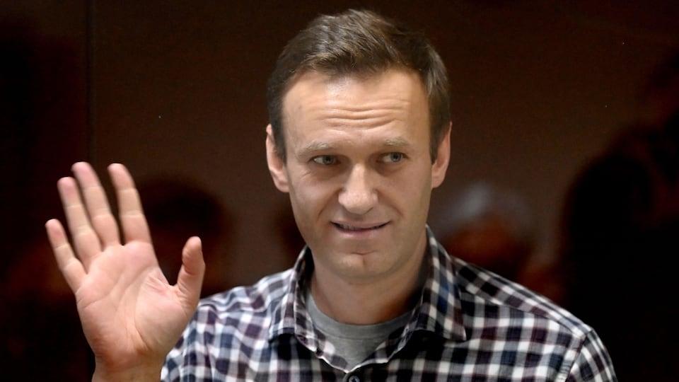L'opposant russe Alexeï Navalny au tribunal à Moscou, le 20 février 2021.