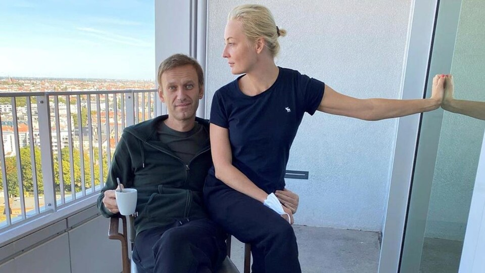 Alexeï Navalny et sa femme Navalnaya.