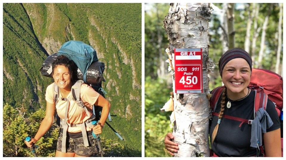 Alexiane Huard et Virginie Leblanc ont parcouru le Sentier international des Appalaches.