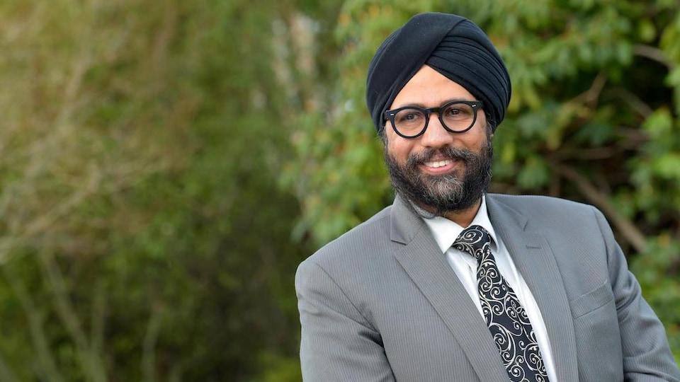 Aman Singh, souriant.