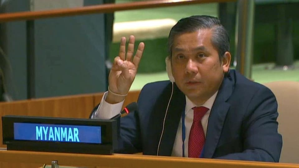 L'ambassadeur du Myanmar auprès des Nations unies Kyaw Moe Tun.