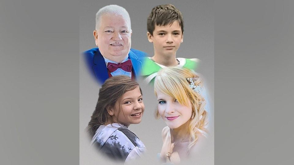 Montage photo des victimes de l'accident.