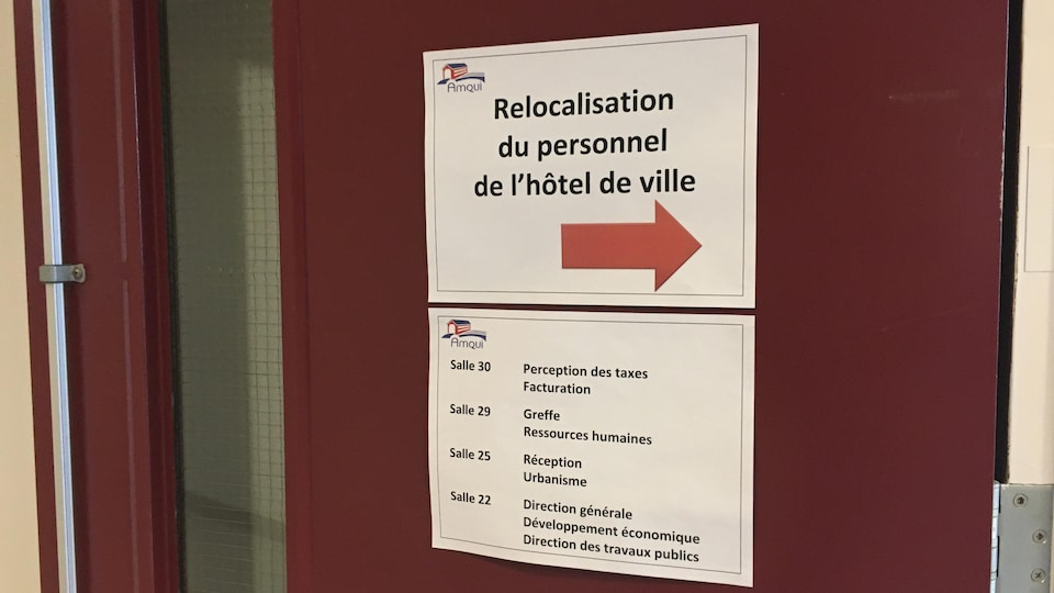 Locaux temporaires des employés de l'Hôtel de Ville d'Amqui