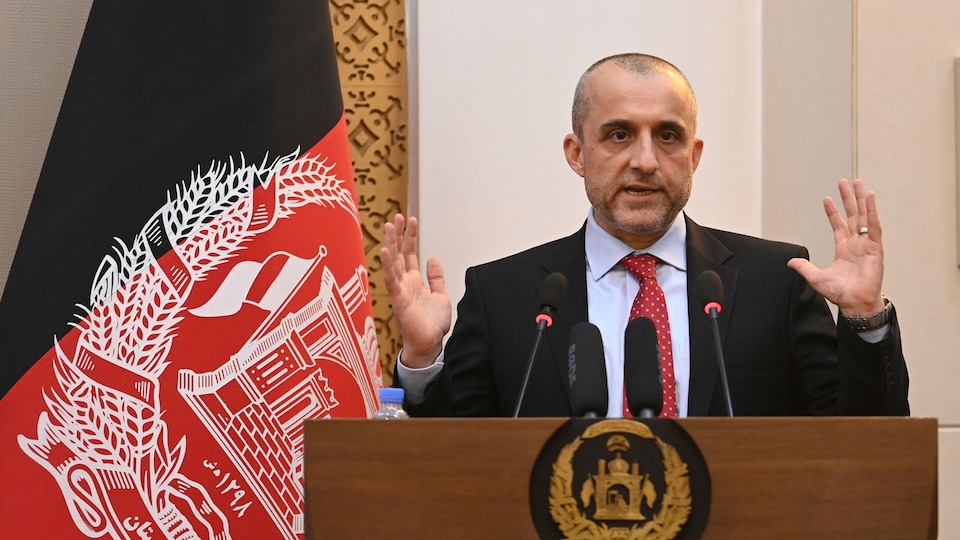 El ex vicepresidente afgano Amrullah Saleh.