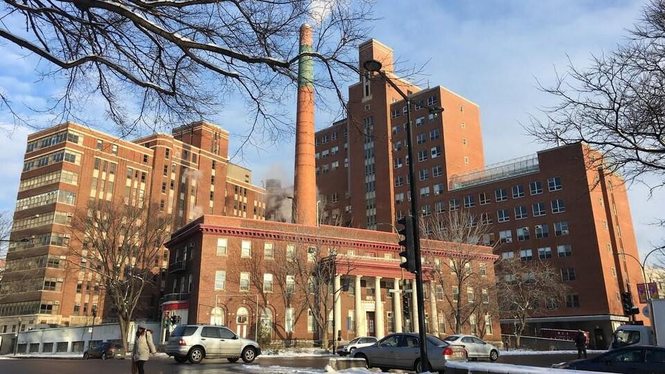 L'ancien emplacement de l'Hôpital de Montréal pour enfants, au centre-ville.