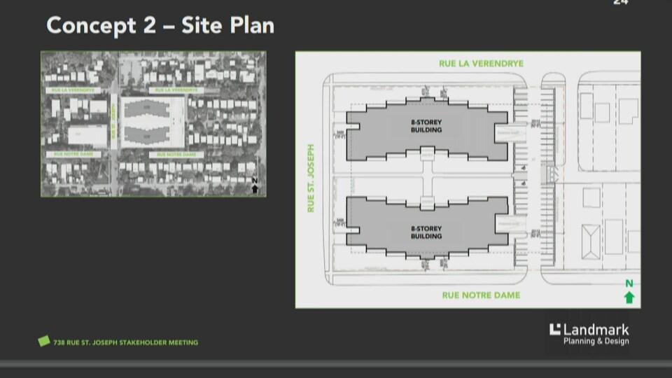 Plan de coupe du deuxième concept.