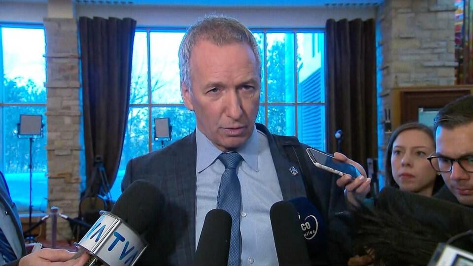 Le ministre de l'Agriculture, André Lamontagne