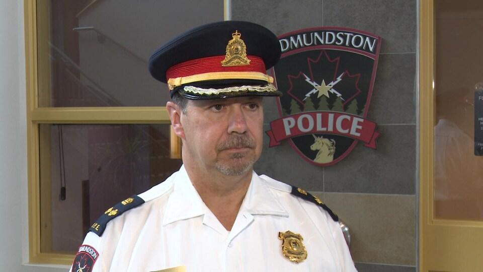 André Madore, directeur adjoint de la Force policière d'Edmundston,.