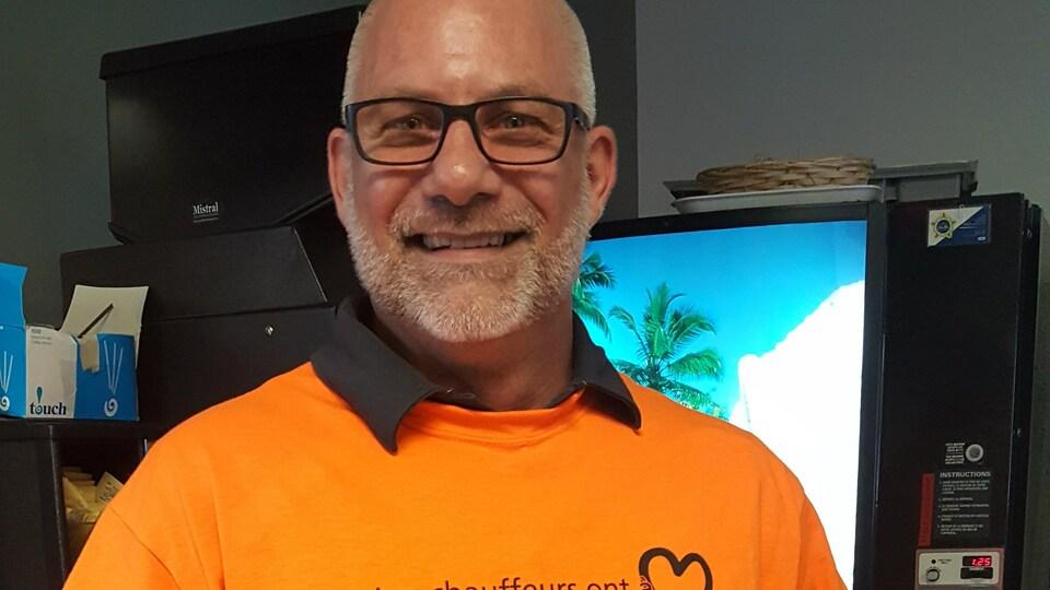 Le vice-président du syndicat des chauffeurs de la STS, André Marsan.