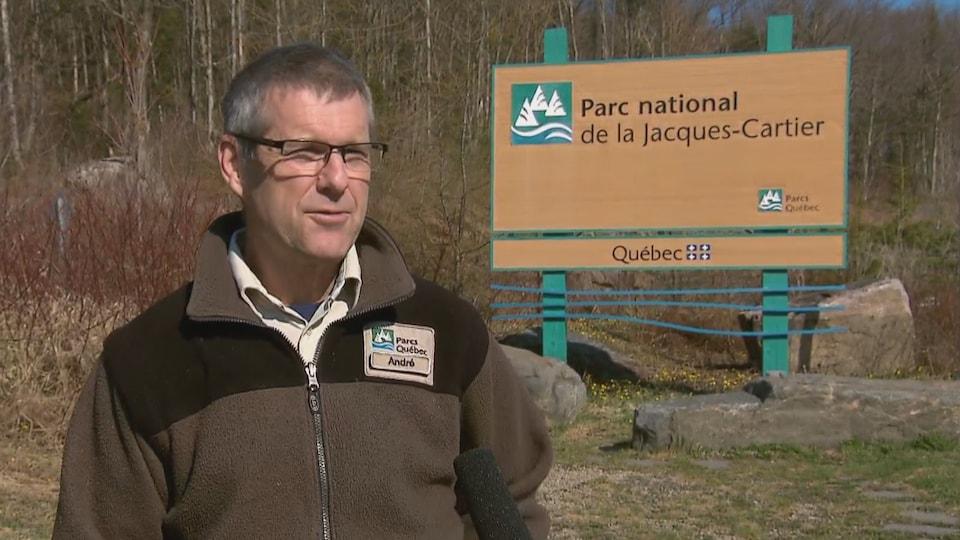 André Rouleau, directeur du Parc national de la Jacques-Cartier