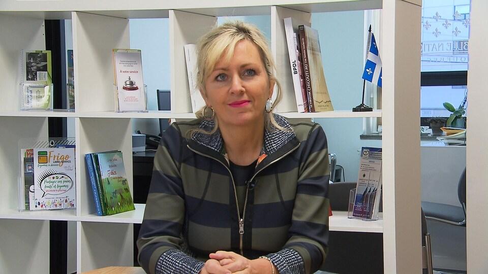 Andrée Laforest, ministre des Affaires municipales et de l'Habitation.