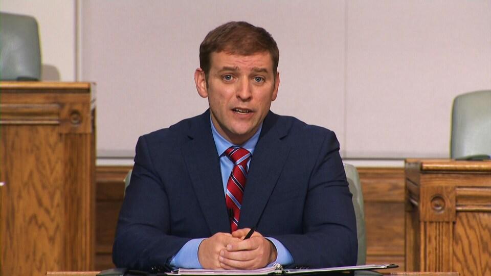 Andrew Furey a défendu son bilan de gestion de la pandémie, lors du débat des chefs du mercredi 3 février 2021.