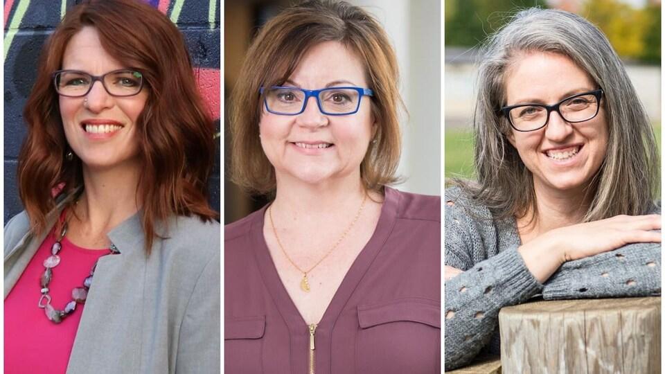 Un montage présentant trois femmes.