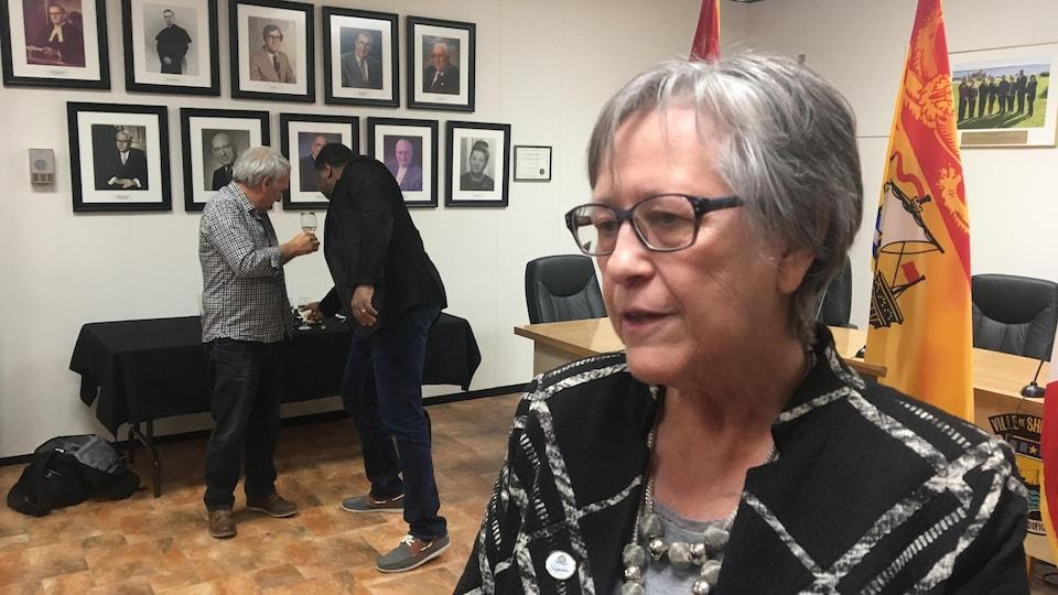 La mairesse de Shippagan, Anita Savoie Robichaud, se dit soulagée
