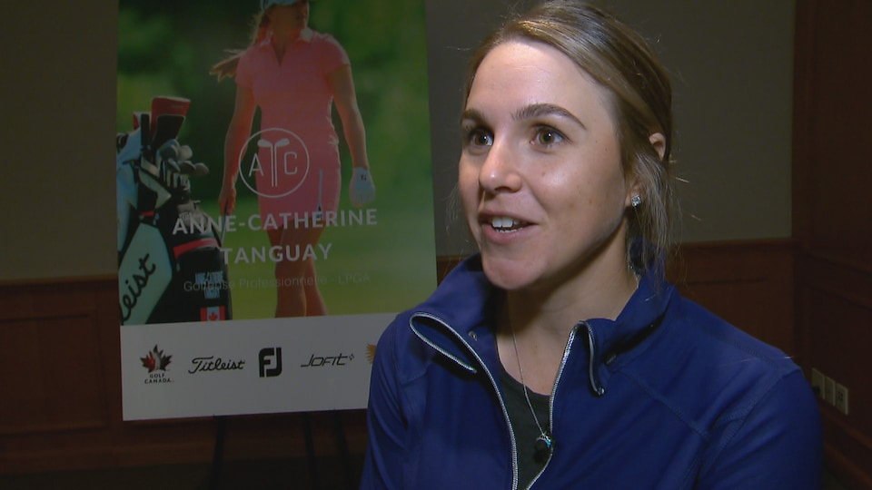 Anne-Catherine Tanguay a parlé de son avenir mercredi lors d'un point de presse à Québec.