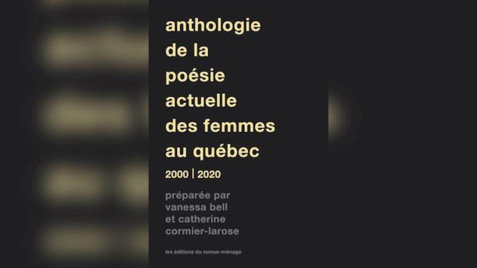 Page couverture de l'Anthologie de la poésie actuelle des Femmes au Québec