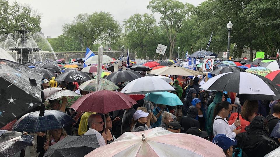 Des centaines de personnes participent au rassemblement