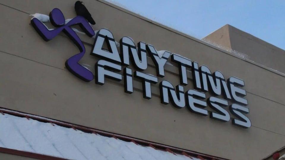 Le centre d'entrainement Anytime Fitness à l'extérieur.