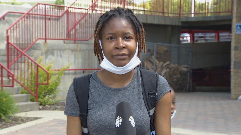 Portrait d'une femme noire.