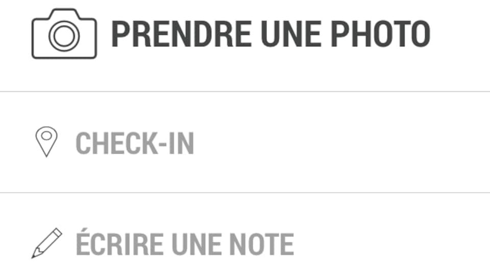 Capture d'écran de l'appli