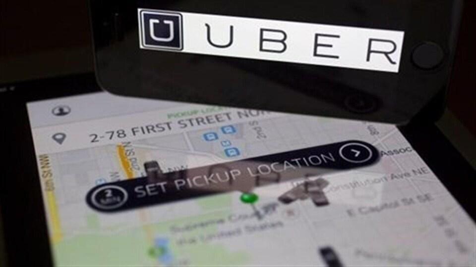 L'application Uber. (Archives)