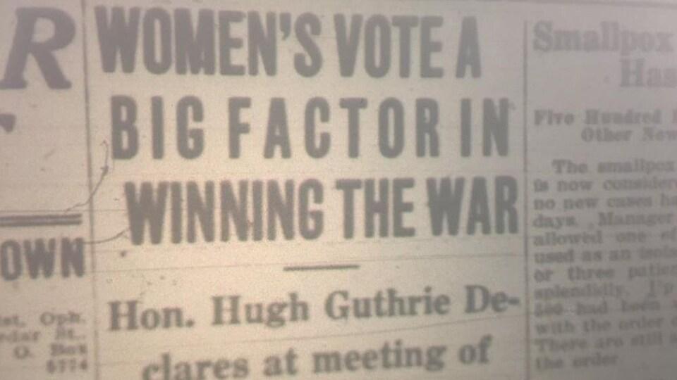 Un article du Sudbury Star en 1917