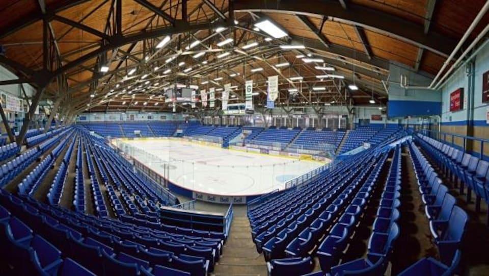 L'intérieur de l'aréna du Grand Sudbury