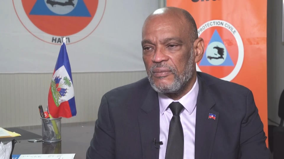 Le premier ministre haïtien Ariel Henry en entrevue