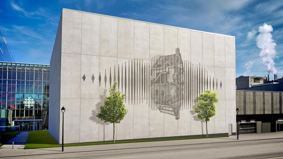 Un des murs de la nouvelle Maison de Radio-Canada sera orné d'une oeuvre d'art inspiré, entre autres, par la maison historique Hubert-Lacroix.