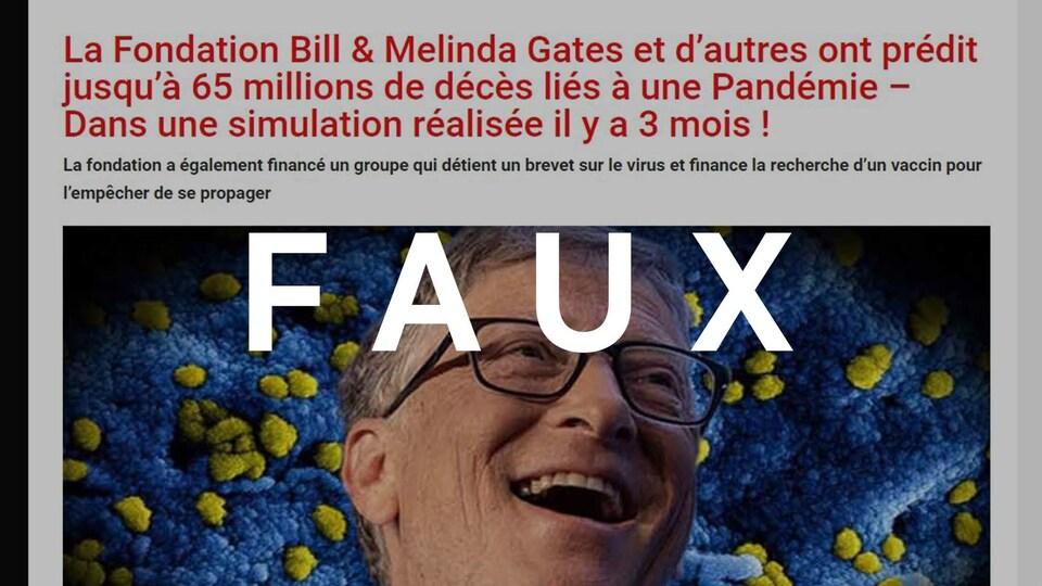Qui est Bill Gates ? - Page 5 Article-faux-bill-gates-65-millions-deces-pandemie