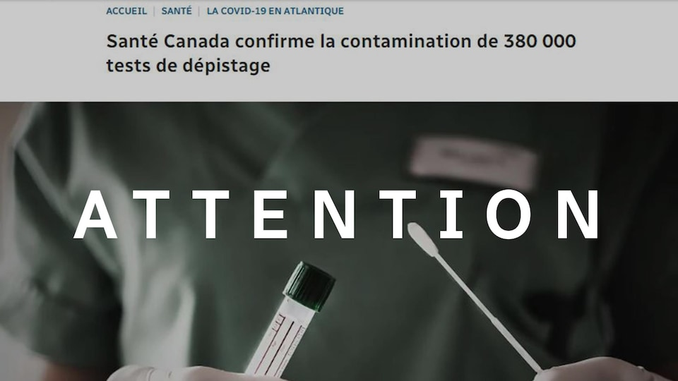 C'est une capture d'écran d'un article de Radio-Canada.