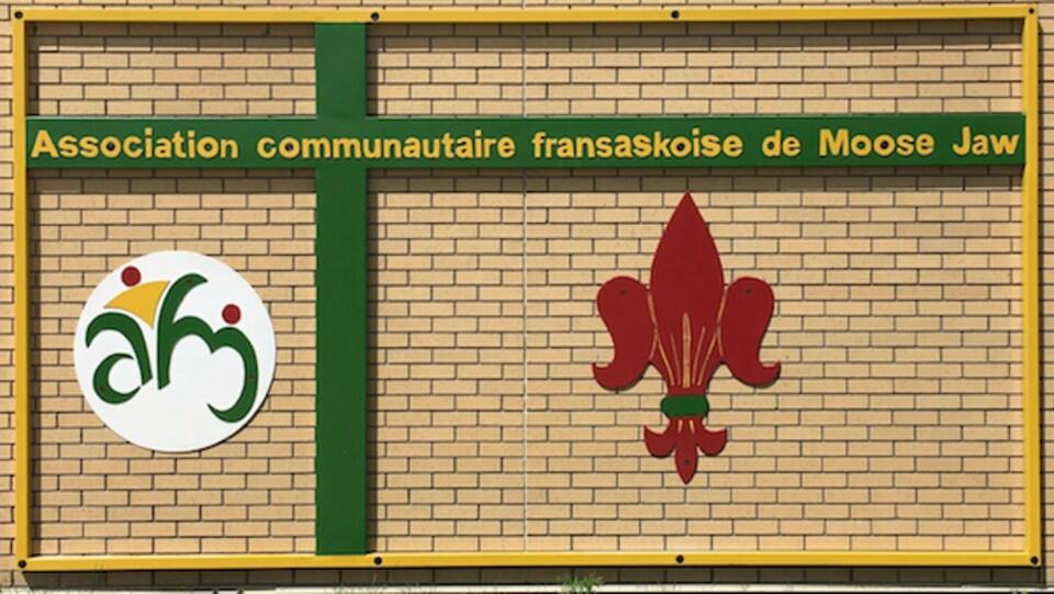 Une affice de l'Association communautaire fransaskoise de Moose Jaw.