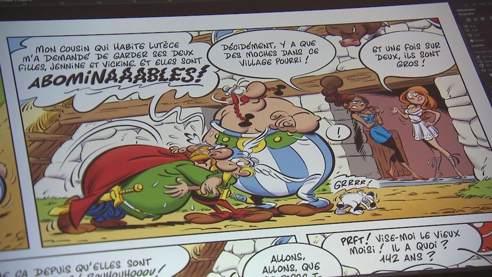 Extrait d'une planche de bande dessinée