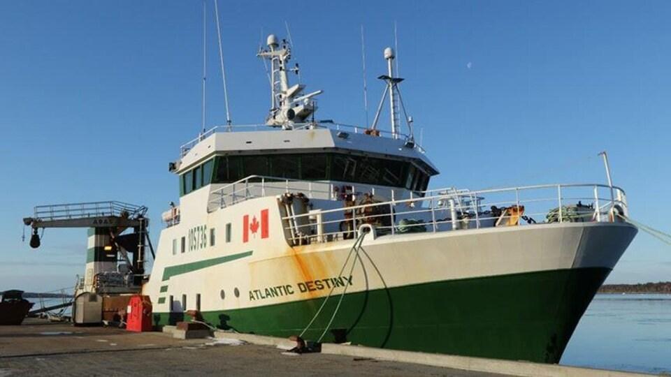 Le navire Atlantic Destiny est basé à Riverport, en Nouvelle-Écosse.