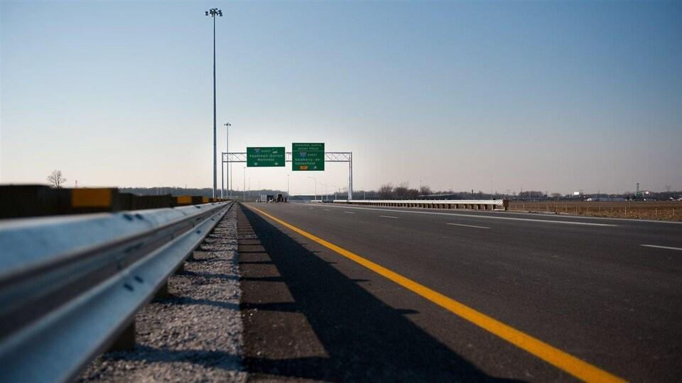 Un tronçon de l'autoroute 30.