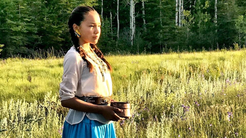 Autumn Peltier a été mise en nomination pour le Prix international de la Paix des enfants.