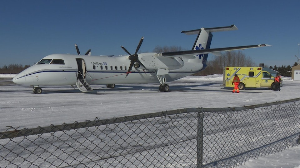 Un avion-ambulance du gouvernement du Québec.