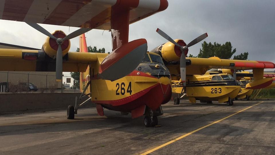 Des avions CL215