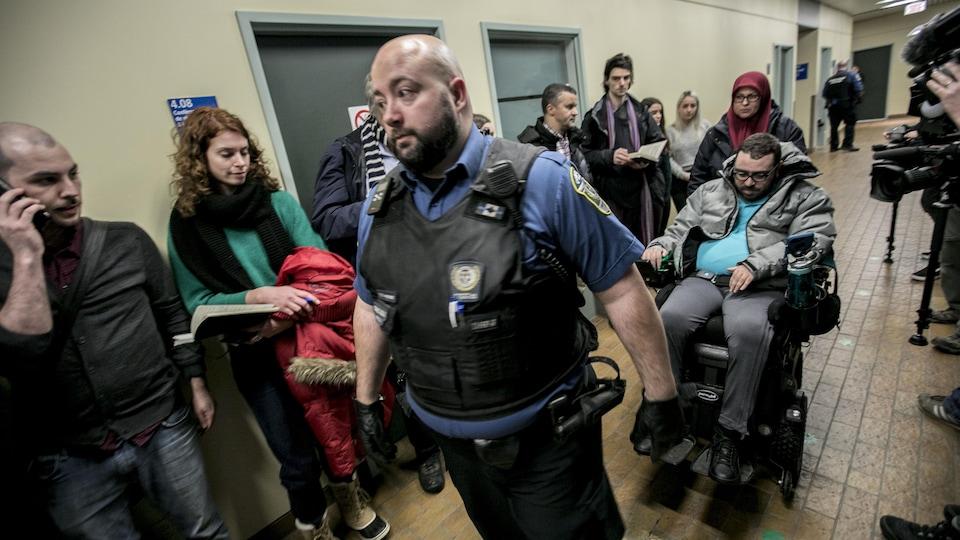 Aymen Derbali au palais de justice de Québec