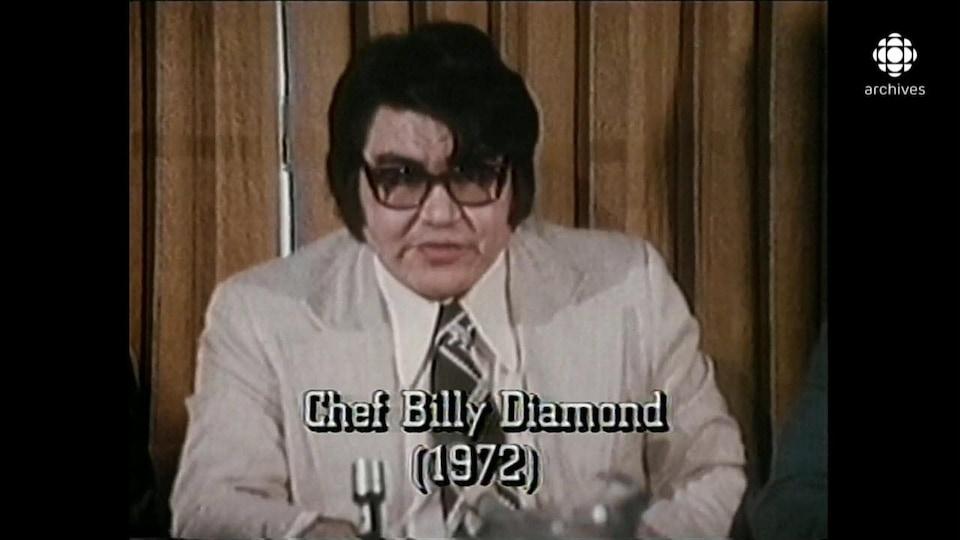 Billy Diamond, en conférence de presse