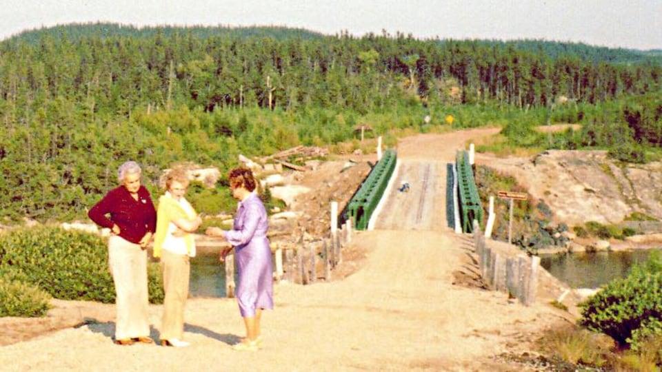 Pont de type «Bailey» enjambant la rivière Aguanish, construit en 1963