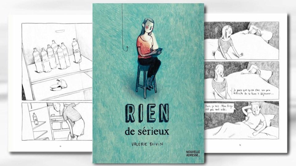La couverture de la BD « Rien de sérieux », de Valérie Boivin.