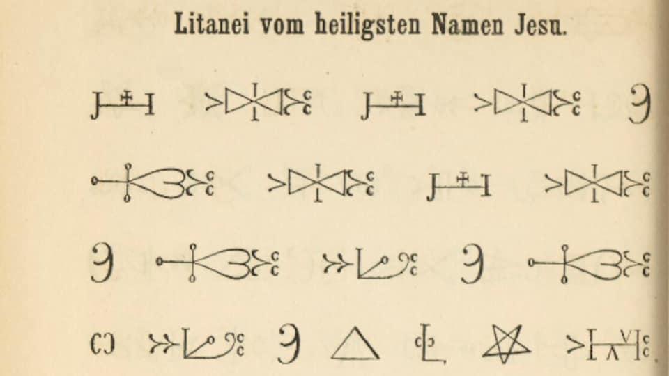 Un livre écrit en hiéroglyphes micmacs.