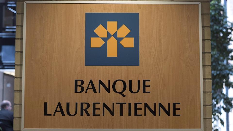 Une affiche de la Banque Laurentienne.