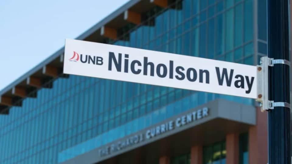 Le panneau de Nicholson Way.