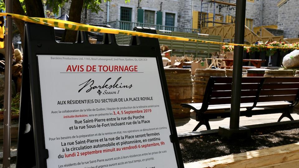 Les résidents de la rue Saint-Pierre pourront accéder à leur logement entre les prises de vue.